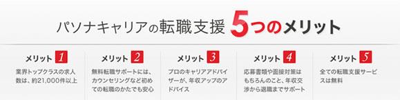 PASONA(パソナキャリア)の5つの人気ポイントは!